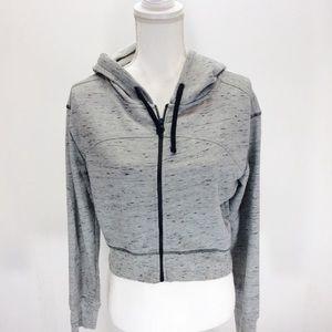 Z by Zella Heather Gray Cropped Sweatshirt Hoodie